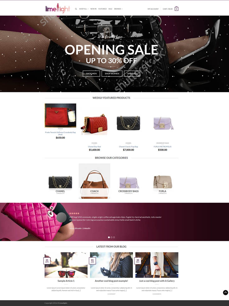 Customized Online Shop Website Design & Development for Fashion Industry