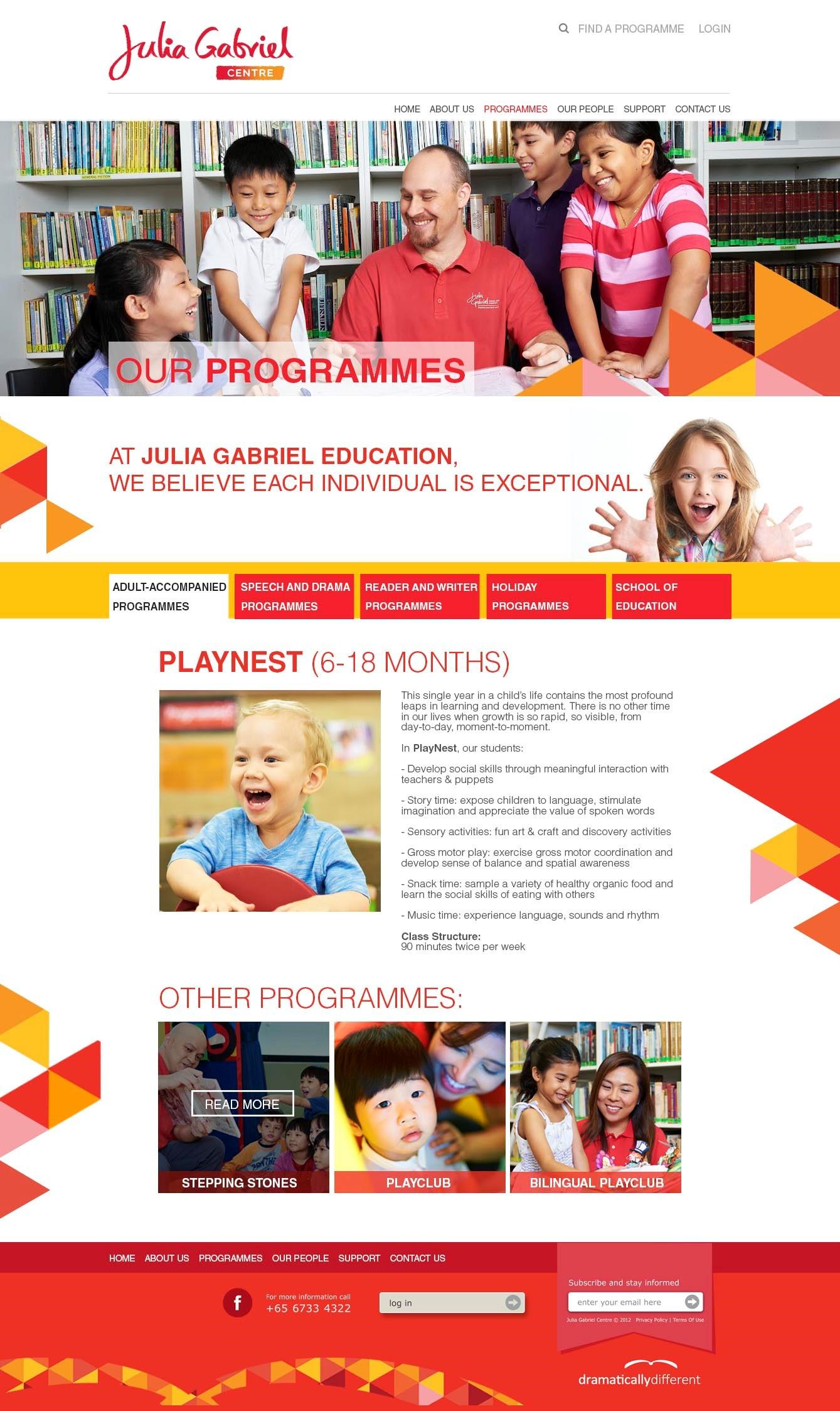 Customized Website Design & Development for Education